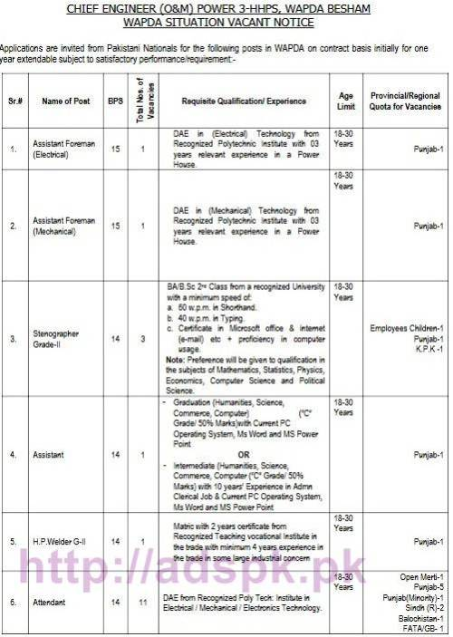 nts-new-career-excellent-jobs-chief-engineer-om-power-3-hhps-wapda-besham-written-test-syllabus-jobs-last-date-20-10-2016-by-nts