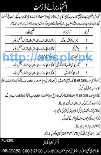 New Career Jobs Social Welfare Department and Bait-ul-Maal Nankana Sahib Jobs for Teaching Staff Applications Deadline 18-08-2016 Apply Now