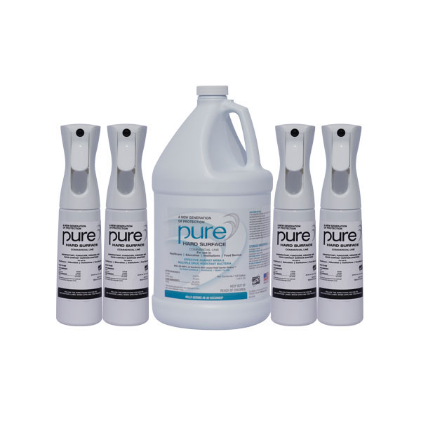 PURE Hard Surface Disinfectant 1-gallon+4-Spray