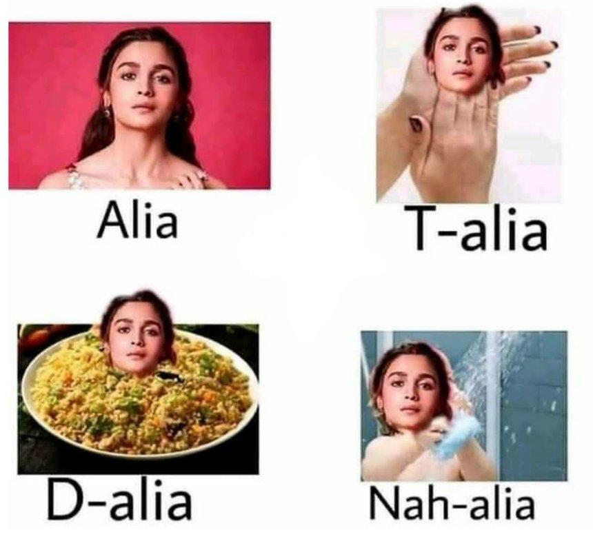 Alia Bhatt + Bollywood memes