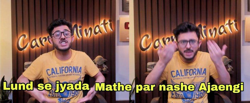 Nashe mathe par aajaengi CarryMinati meme templates