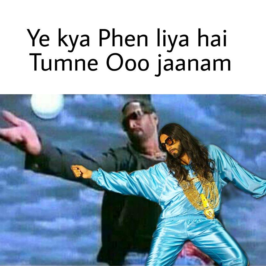 New Dress look Ranveer Singh Memes