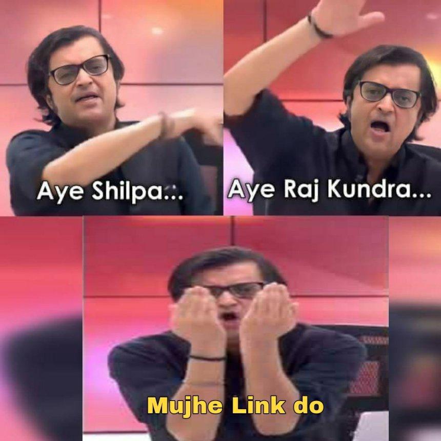 Link De De Bhai comment on Raj Kundra's photos