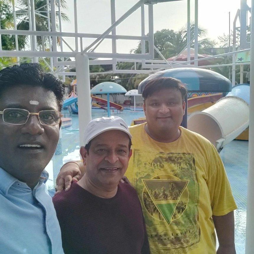 Hathi Bhai, Abdul and Iyer bhai at Water park