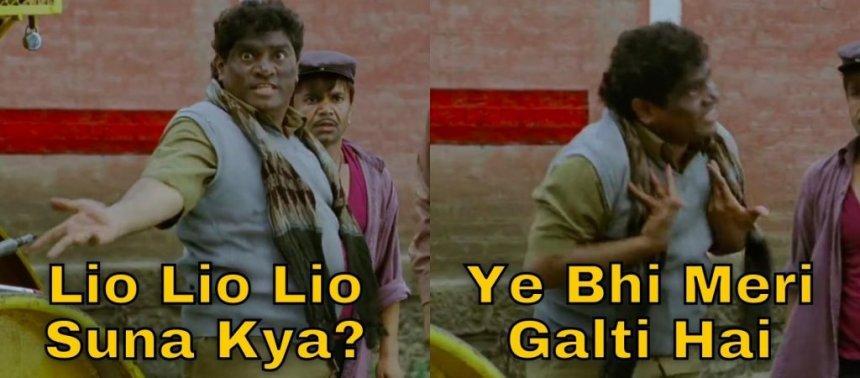 Ye Bhi Meri Galti Hai meme template from Khatta Meetha movie
