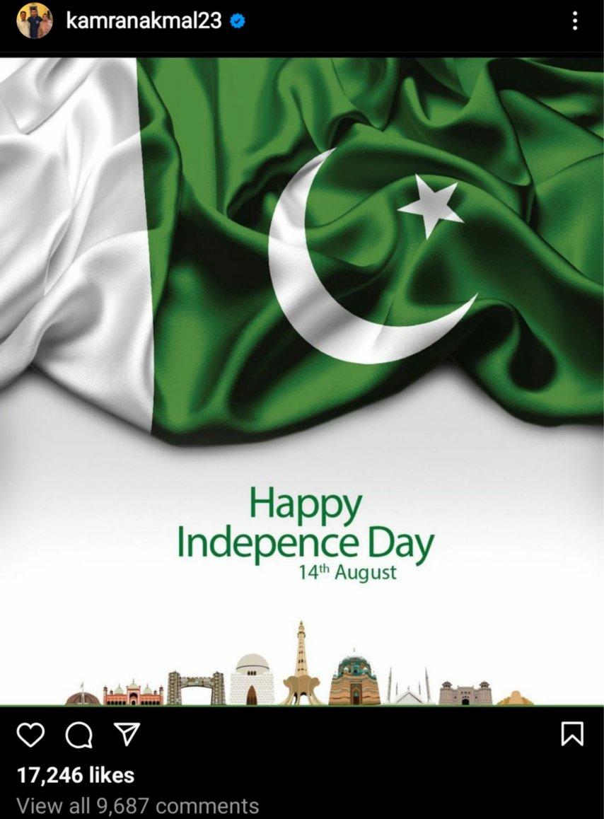 Funny Kamran Akmal Independence day post