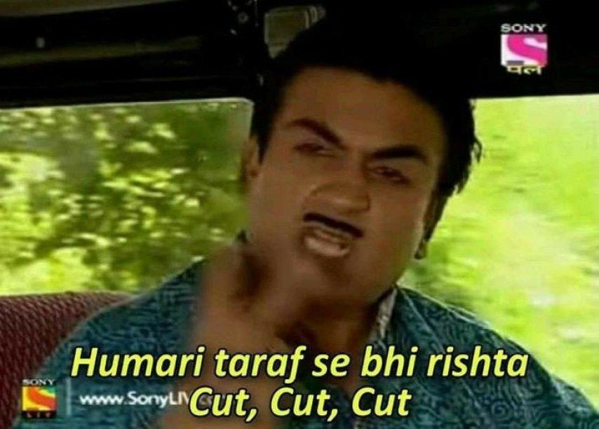 Humari Taraf se bhi Rishta cut meme template