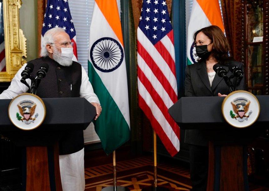 Kamala Harris and PM Modi meeting memes