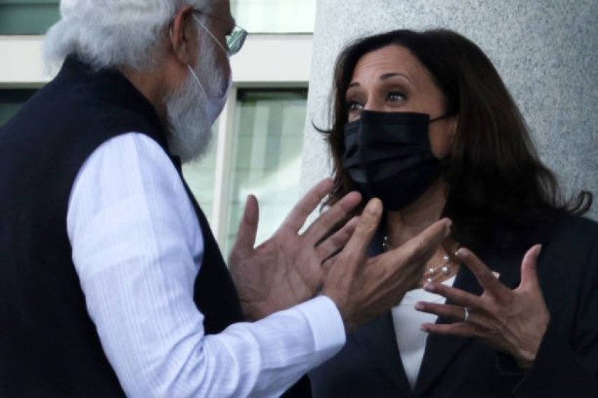 PM Modi and Kamala Harris meme template