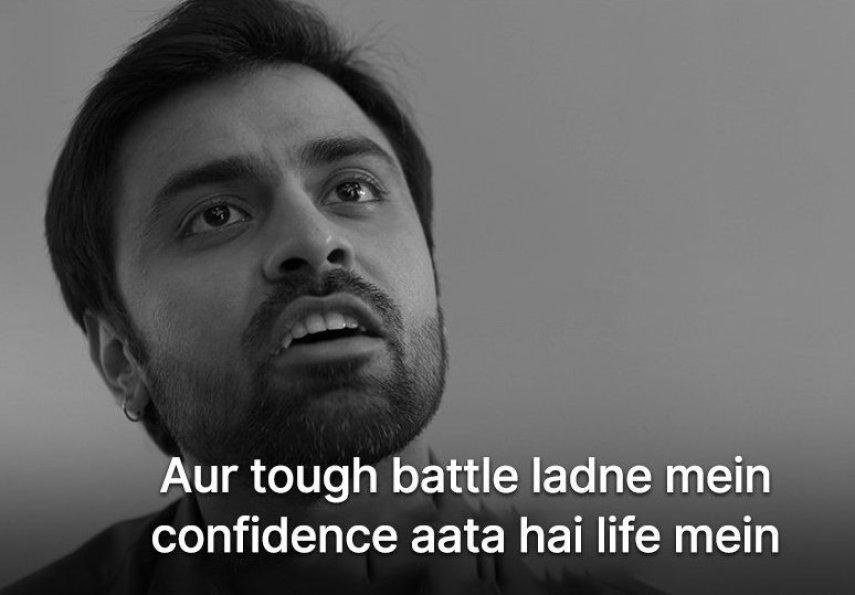 Tough Battle Ladne mai Confidence aata hai meme template