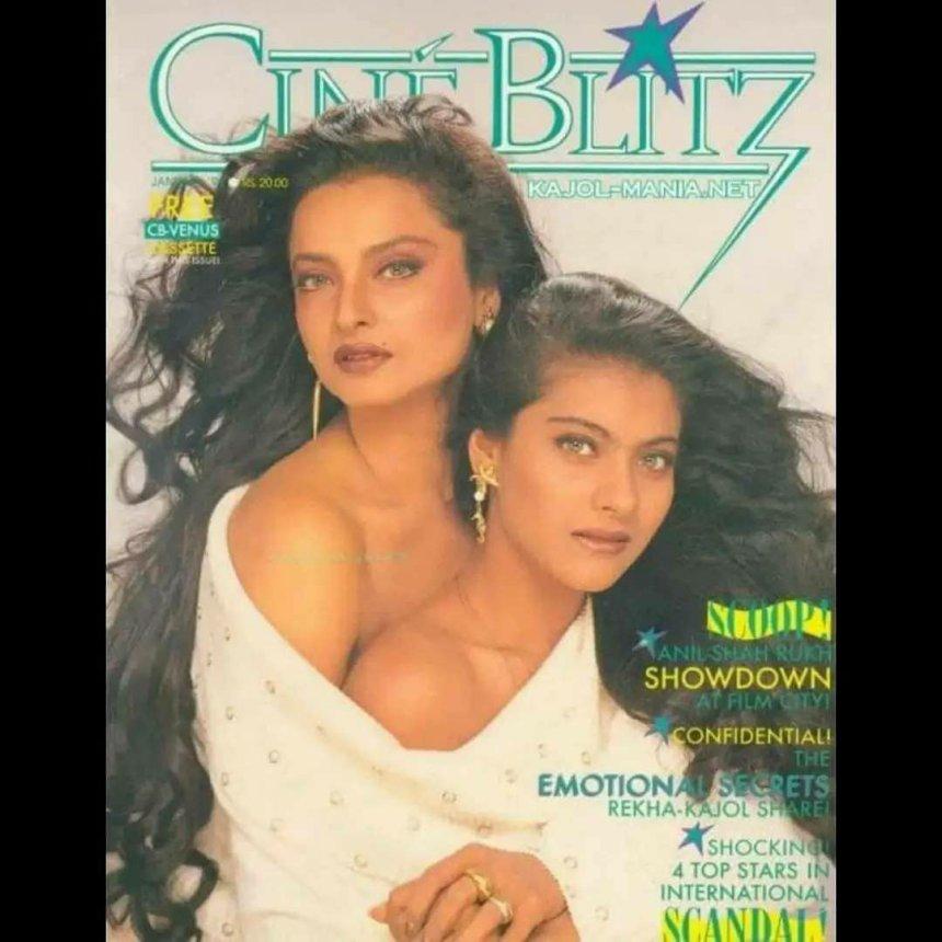 Funny Photos of Bollywood actresses  Kajol and Rekha