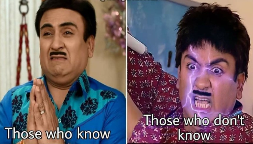Jethalal People who know meme template