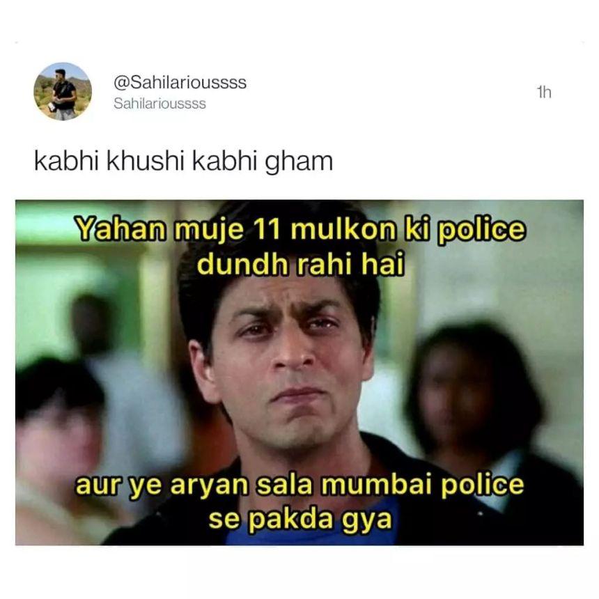 Aryan Khan and SRK memes