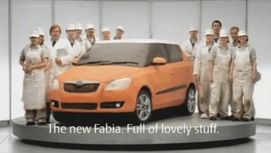 Skoda Fabia Cake car advert