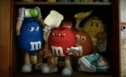 m&ms advert get in the bowl