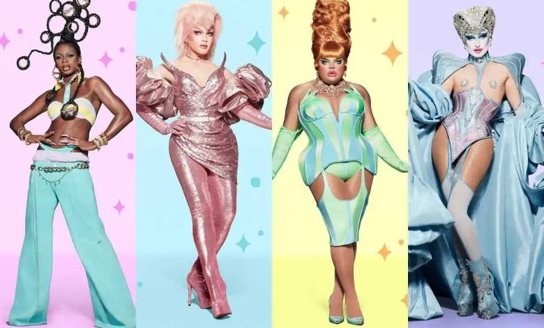 Symone, Rosé, Kandy Muse e Gottmik foram as finalistas das 12ª temporada de 'RuPaul's Drag Race' (Reprodução/Internet)