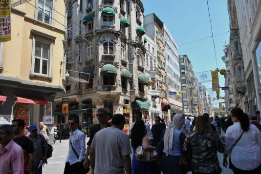 Istiklal Avenue in Istanbul photographed on June 10, 2013. photo by Aleksandra Dukovska