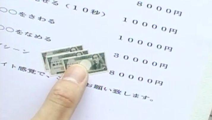 東京ばな奈ナンパの料金表