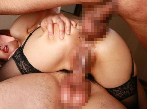 人妻熟女の二穴セックス