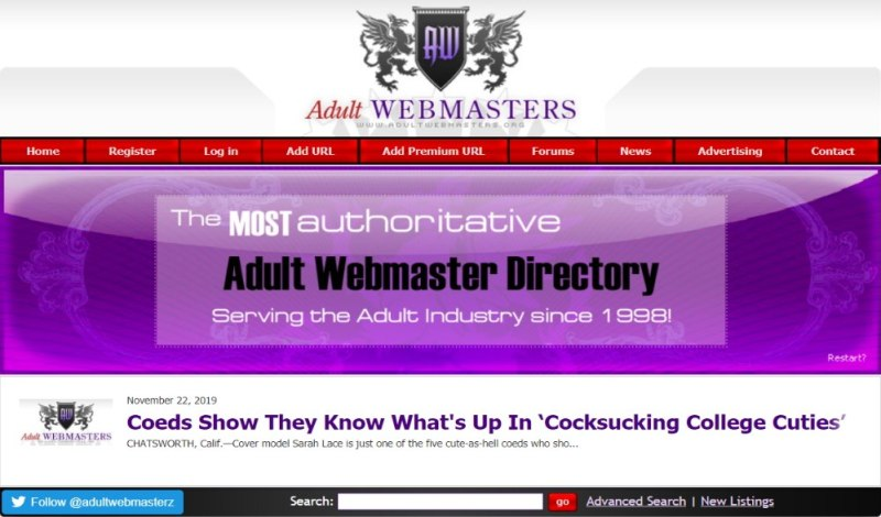 Adult Webmasters-Layout