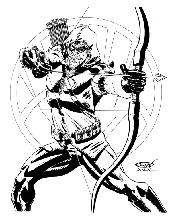 green arrow coloring pages # 19