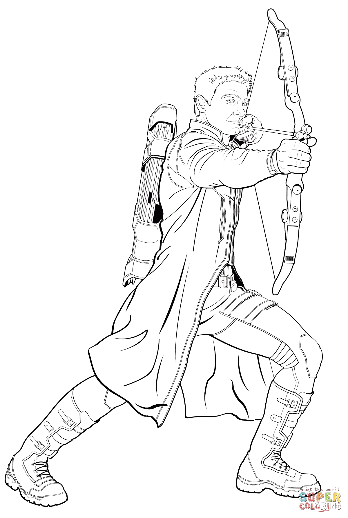 25 Hawkeye Coloring Pages Pictures