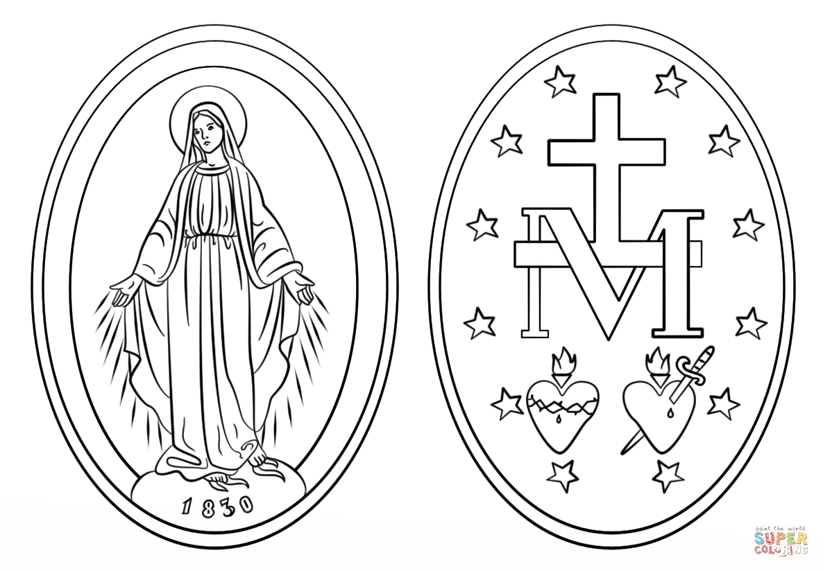 21 Rosary Coloring Page Printable