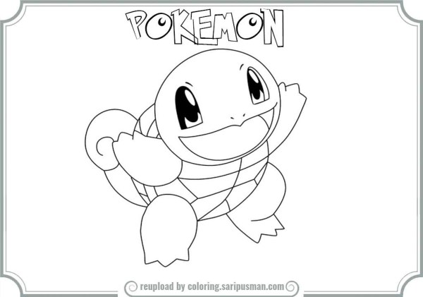 squirtle coloring pages # 31