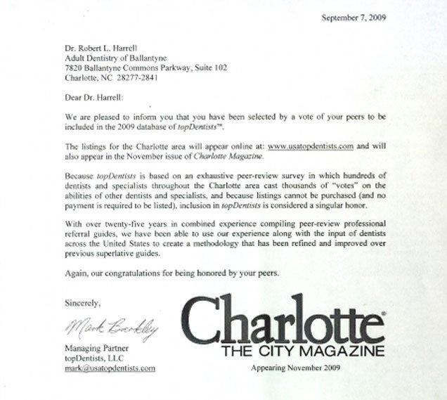Top Dentist Charlotte NC