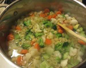 Pasta and Vegetables Cooking