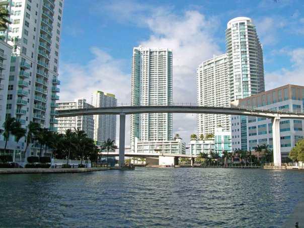 Outside the Hyatt Regency in Miami, Florida