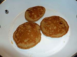 Pancakes after flipping