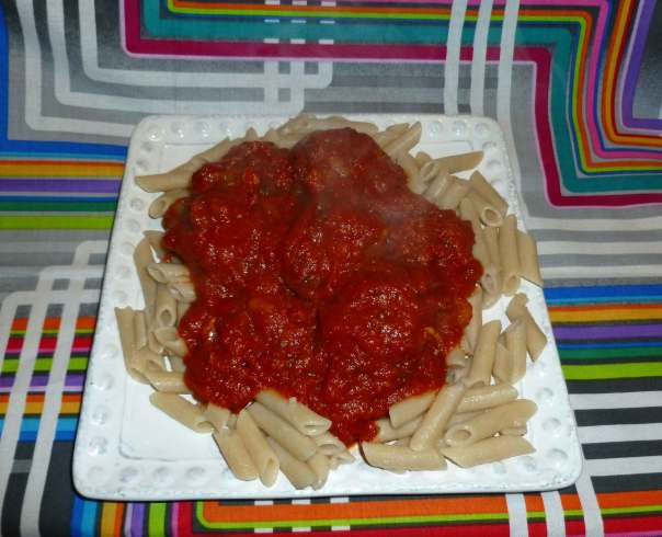 Meatball Sub Meatballs in Marinara Sauce over Penne