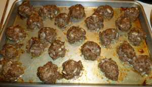 Meatballs after cooking