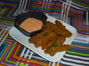 Baked Eggplant and Zucchini Fries with Spicy Mayo Dipping Sauce