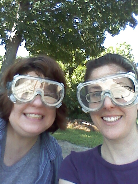 Denise and Mary Kate put safety first.