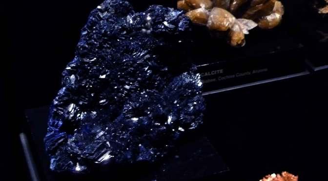 Azurite (?) at the Sonoran Desert Museum