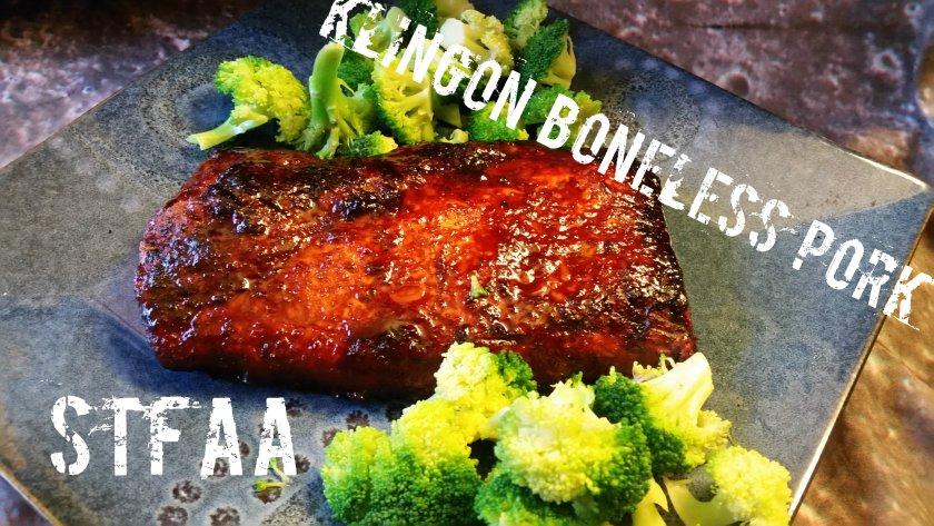 Klingon Boneless Pork (with broccoli)