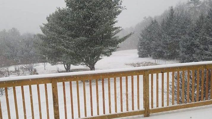 Snow has arrived in New Hampshire