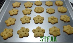 Spritz or Cookie Press Cookies after baking