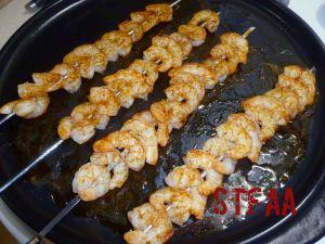 Cajun Seasoned Shrimp Skewers after cooking