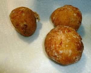 Stuffed potatoes after frying