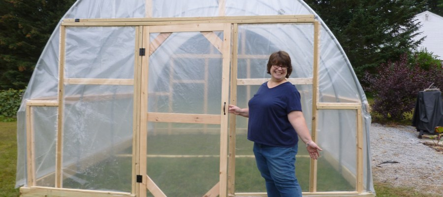 Look! Denise got a greenhouse!