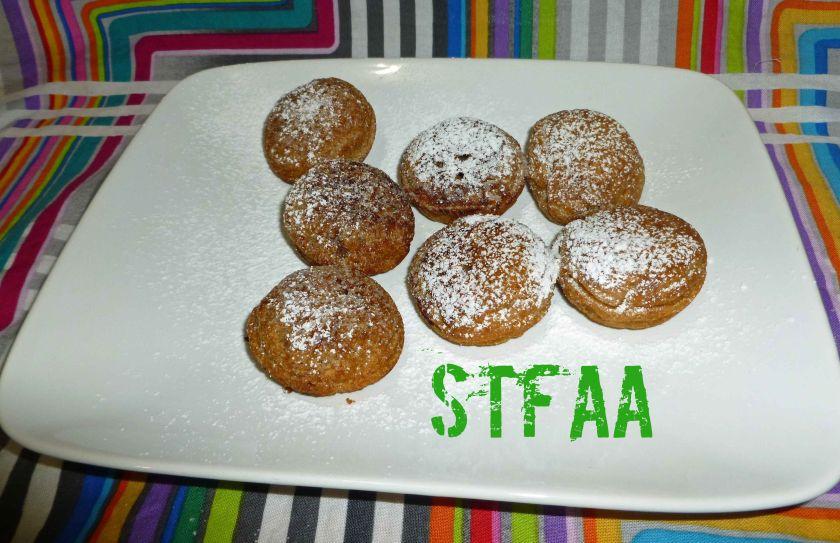 Gluten-free & Vegan Abelskiver (Stuffed Pancakes)