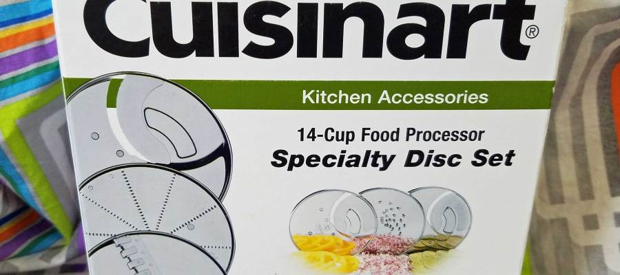 Cuisinart 3-Piece Specialty Disc Set - Extra Thick Slicing disc, Fine Grating disc, and French-Fry Cut disc.