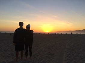 Us on the beach in Venice