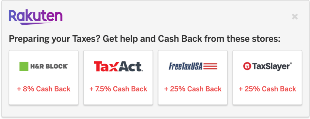 Filing taxes for the first time - cash back on tax software