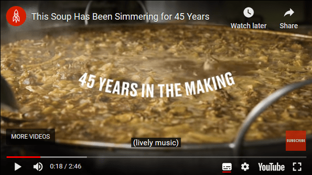 This pot of soup has been cooking for 45 years