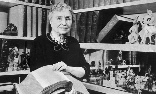 The first word that Helen Keller learned was water.
