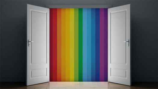 Coming Out of Closet Gay Rainbow